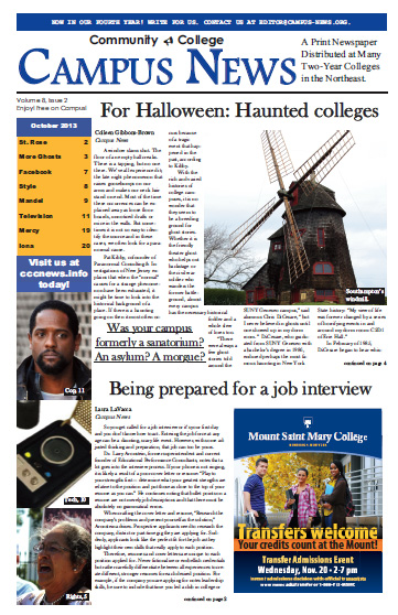 Haunted! The October Issue of Campus News!