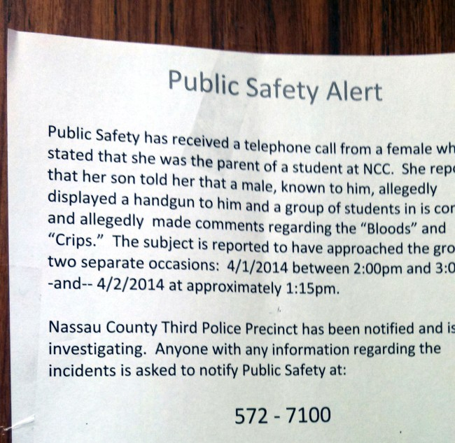 campus safety note