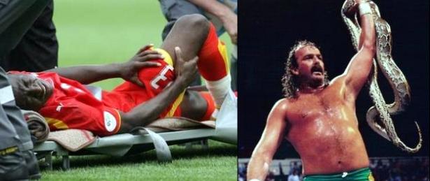 Ghana soccer and Jake the Snake