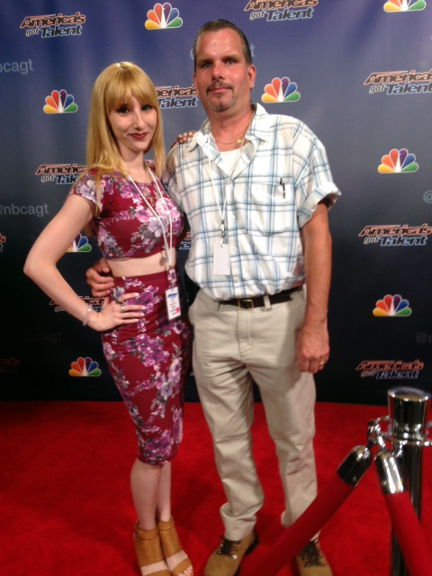 Julianne with dad, Scott Mosher at 'AGT.'