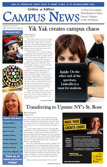 The November 2014 cover of Campus News