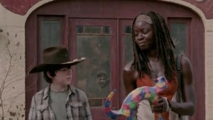michonne-carl-chat