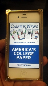 The Campus News app on an iPhone.