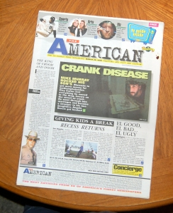 The American, a failed newspaper from the 1990s.